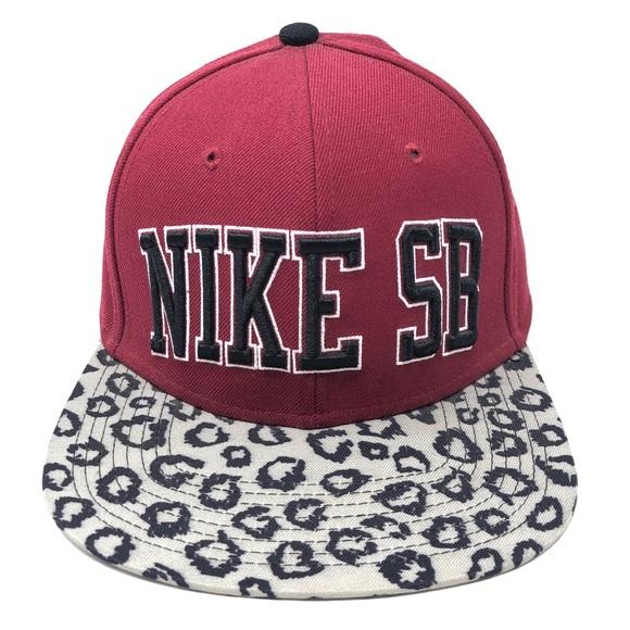 Nike SB Leopard Snapback Cap Womens Mens Hat. M 5b2d607c34a4effd378daca5 8b8b9f41666